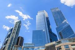New York, de V.S. 20 Mei, 2014 Het kijken op mening van Hoog Bouwfr Royalty-vrije Stock Afbeelding