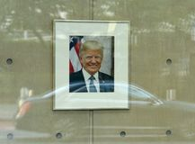 New York, de V.S. - 26 Mei, 2018: Portret van Donald Trump in U royalty-vrije stock foto's