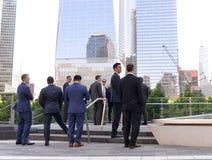 New York, de V.S. - 24 Mei, 2018: Zakenlieden op het financi?le district in lager Manhattan in New York stock afbeelding