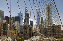 NEW YORK - de V.S. 12 September 2016 Één World Trade Center gezien Fr stock foto