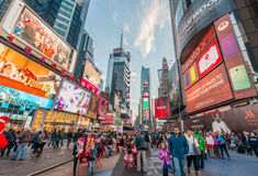 New York - DECEMBER 22, 2013: Times Square on December 22 in USA Royalty Free Stock Photography