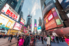 New York - DECEMBER 22, 2013: Times Square on December 22 in USA Stock Photos