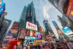 New York - DECEMBER 22, 2013: Times Square on December 22 in USA. New York. Times Square is the most popular tourist spot in New York Royalty Free Stock Photos