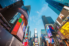 New York - DECEMBER 22, 2013: Times Square on Royalty Free Stock Images