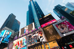 New York - DECEMBER 22, 2013: Times Square on Royalty Free Stock Photos