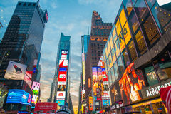 New York - DECEMBER 22, 2013: Times Square on Royalty Free Stock Photo