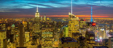 New York - DECEMBER 20, 2013: View of Lower Manhattan on Decembe Royalty Free Stock Photos