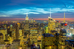 New York - DECEMBER 20, 2013: View of Lower Manhattan on Decembe Stock Photo