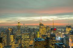 New York - DECEMBER 20, 2013: View of Lower Manhattan on Decembe Stock Image