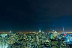New York - DECEMBER 20, 2013: View of Lower Manhattan on Decembe Royalty Free Stock Photo