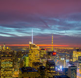 New York - DECEMBER 20, 2013: View of Lower Manhattan on Decembe Stock Images