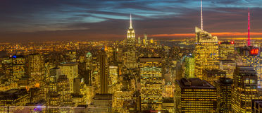 New York - DECEMBER 20, 2013: View of Lower Manhattan on Decembe Stock Photos