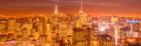 New York - DECEMBER 20, 2013: View of Lower Manhattan on Decembe Royalty Free Stock Images