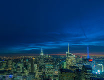 New York - DECEMBER 20, 2013: View of Lower Manhattan on Decembe Stock Photography