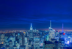 New York - DECEMBER 20, 2013: View of Lower Manhattan on Decembe Royalty Free Stock Image