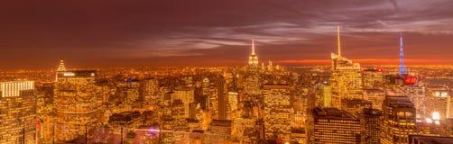 New York - DECEMBER 20, 2013: View of Lower Manhattan on Decembe Stock Image