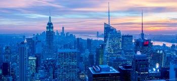 New York - DECEMBER 20, 2013: View of Lower Manhattan on Decembe Royalty Free Stock Image