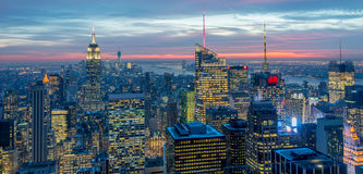 New York - DECEMBER 20, 2013: View of Lower Manhattan on Decembe Royalty Free Stock Photography