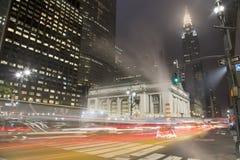 New York den 42nd gatan Arkivfoton
