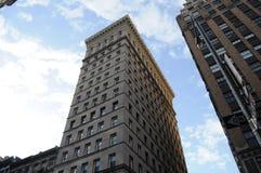 New York in den riesigen Wolkenkratzern Stockbilder
