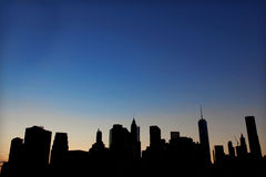 New York an der Nachtzeit Stockbilder