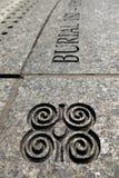 New York: Dettaglio africano dell'iscrizione del cimitero Immagini Stock Libere da Diritti