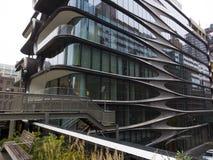 New York di costruzione sembrante futuristica moderna Fotografie Stock Libere da Diritti