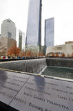 New York 9/11 di memoriale al ground zero del World Trade Center Immagine Stock