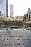New York 9/11 di memoriale al ground zero del World Trade Center Fotografie Stock Libere da Diritti