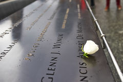 New York 9/11 di memoriale al ground zero del World Trade Center Fotografia Stock Libera da Diritti