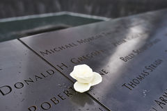 New York 9/11 di memoriale al ground zero del World Trade Center Immagini Stock