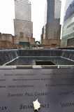 New York 9/11 di memoriale al ground zero del World Trade Center Fotografie Stock