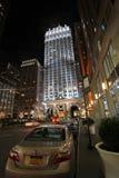 New York di notte, U.S.A. Fotografie Stock Libere da Diritti