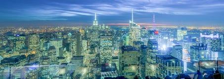 New York - 20 dicembre 2013: Vista del Lower Manhattan su Decembe Fotografia Stock
