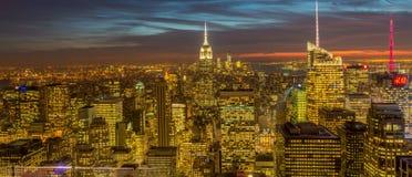 New York - 20 dicembre 2013: Vista del Lower Manhattan su Decembe Fotografie Stock