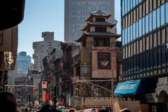 To street Zen Chinatown stock photography
