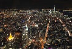 New York do Empire State Building na noite, EUA Imagens de Stock