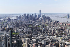 New York Downtown. New York City, USA - May 20, 2014: Downtown Manhattan from above Stock Photo