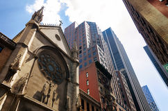 New York downtown St Mary the Virgin Church Royalty Free Stock Photo