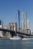 The New York Downtown w Brooklyn Bridge Royalty Free Stock Photography