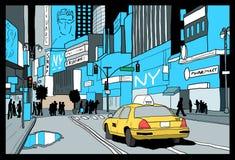 New York drawing Stock Photos