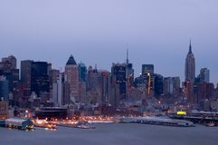 New York at dusk Royalty Free Stock Photos