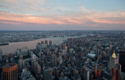 New York Dusk Stock Images