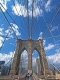 New York e ponte di Brooklyn Fotografie Stock Libere da Diritti
