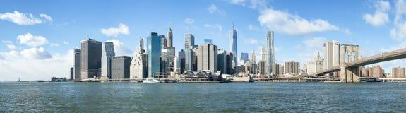 NEW YORK, E.U. - 24 DE NOVEMBRO: Tiro composto de mais baixo Manhattan SK Fotografia de Stock Royalty Free
