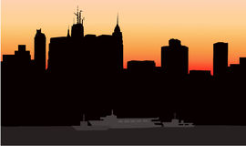 New York at Early Morning -. New York at Early Morning is a  illustration Stock Photography