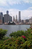 New York East River Waterfront and Skyline USA Stock Images