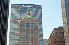 New York: Edificio e orizzonte di MetLife il 14 settembre 2014 Fotografia Stock Libera da Diritti