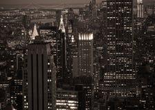 New York em a noite foto de stock