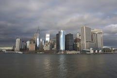 New York em um dia nebuloso Fotos de Stock Royalty Free
